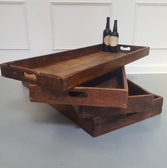 Antique Wooden Bread Trays c1930