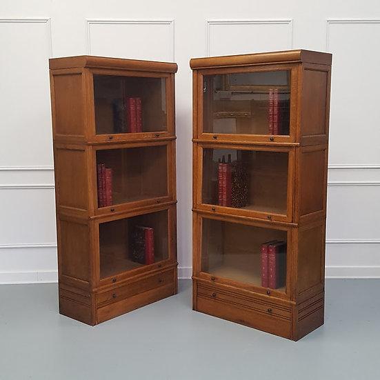 Paris made Oak Stacking Bookcase / Haberdashery c1930