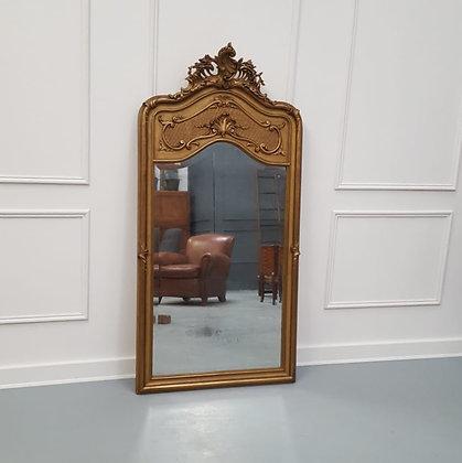 Antique French Trumeau Mirror C1900
