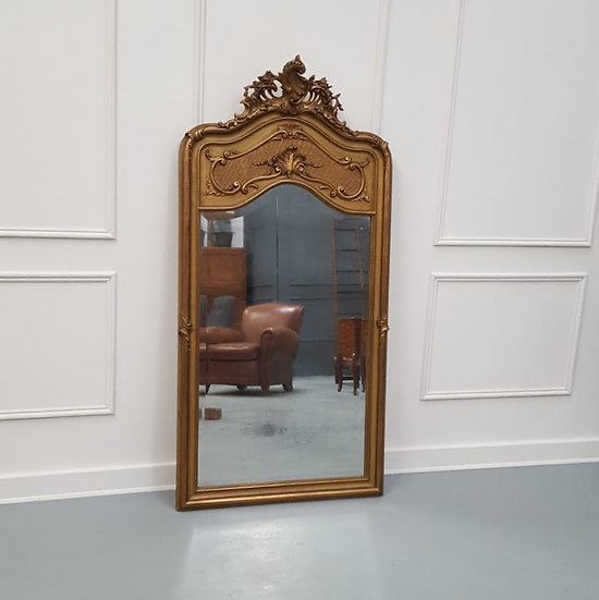 Antique French Trumeau Mirror C1900