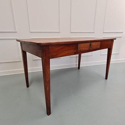 Charming French Cherry Farmhouse Table c1850