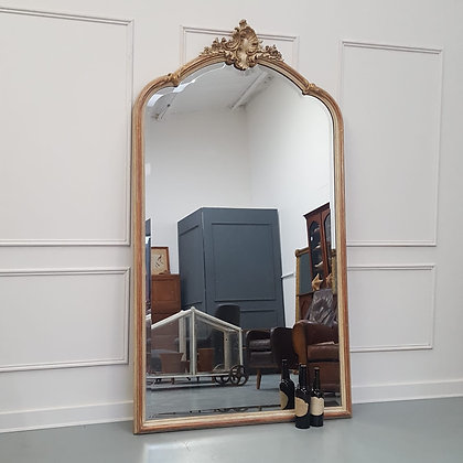 Beautiful Antique Huge French Mirror C1850
