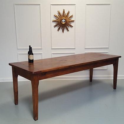Large Antique Cherry Wood Farmhouse Table C1850