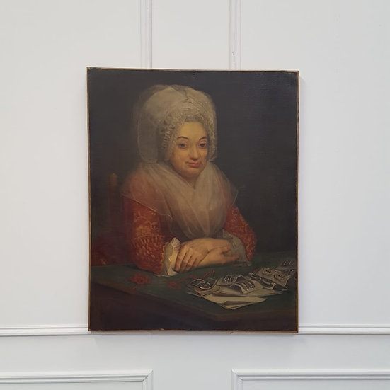 Fine Antique Early Oil Portrait Dated 1796