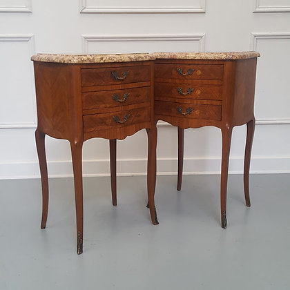 Beautiful Kingwood Bedside cabinets with Marble Tops