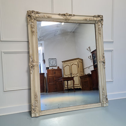 Pretty Antique Painted French Mirror c1840