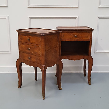 Pair of French Kingwood Bedside Tables C1900