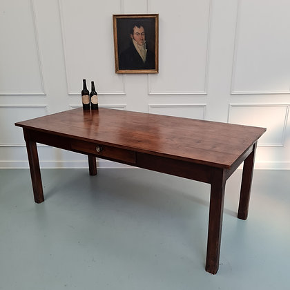 Beautiful Country Farmhouse Cherry Wood Table C1850