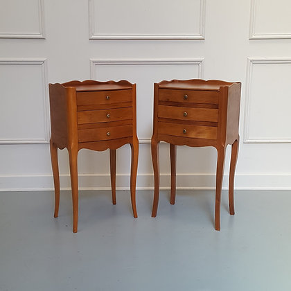 French Cherry Wood Side Tables C1950