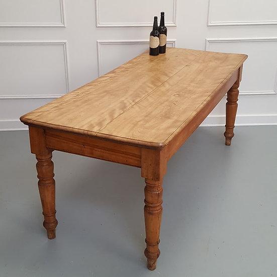 Rare Satin Birch Refectory Dining Table C1860