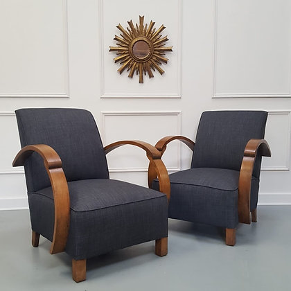 Pair of French Upholstered Chairs C1930