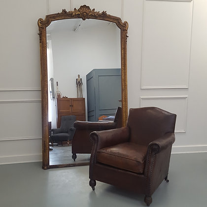 Huge French Gilded Mirror C1870