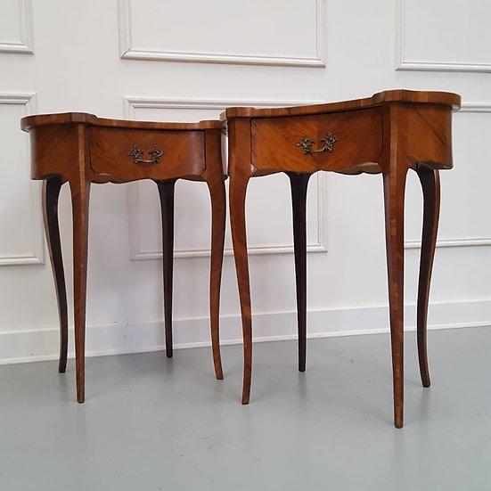 Pair of Kingwood Side Tables c1930