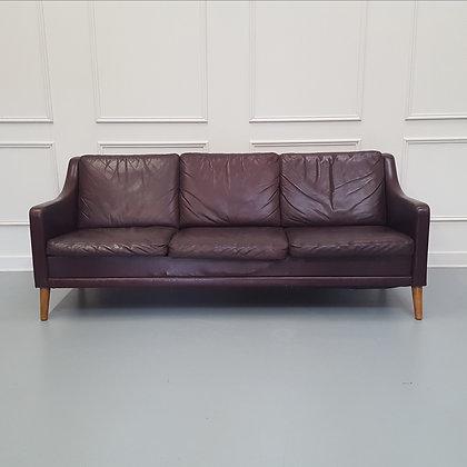 Vintage Danish Leather Sofa c1960