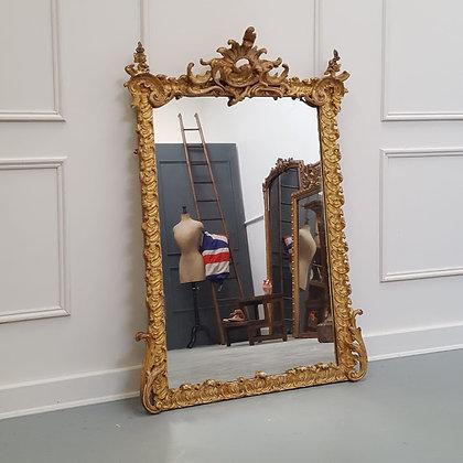 Elaborate Antique French Mirror C1850