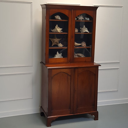 Antique Mahogany Country Bookcase C1860