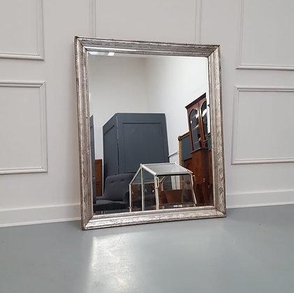 Antique French Silver Mirror C1890