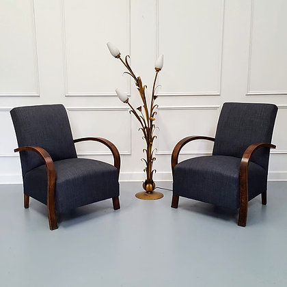 Pair of French Upholstered Armchairs c1930