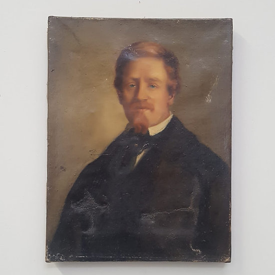 French gentleman paintedon canvas c1880