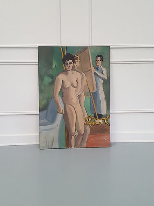Nude Study Oil Painting C1950
