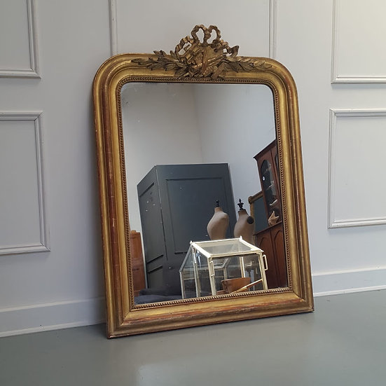 Antique French Gilded Mirror c1870