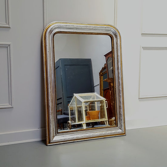Antique Silver and Gold Gilded French Mirror C 1880