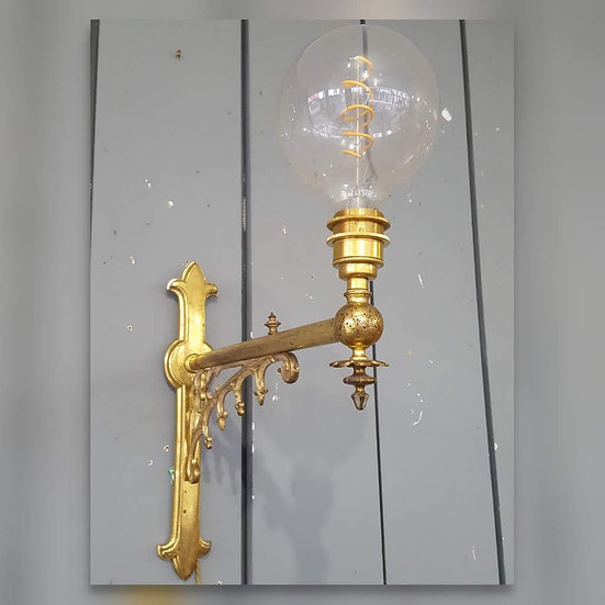 Large Brass Wall Lights
