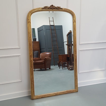 Antique Tall French Gilded Mirror C1900
