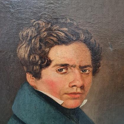 Striking Georgan Oil Painting of Gentleman C1840