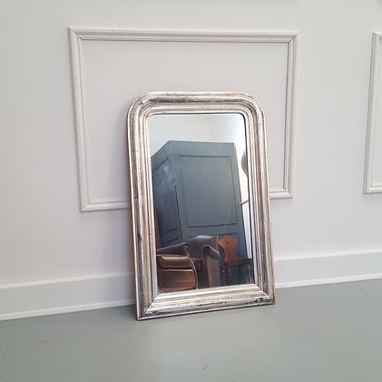 Small Silver Antique French Mirror C1890