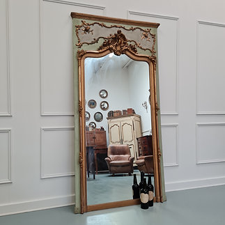 Large Antique French Trumeau Mirror c1890
