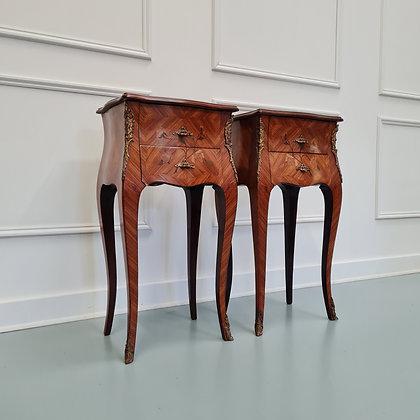 French Kingwood Bedside Tables c1930