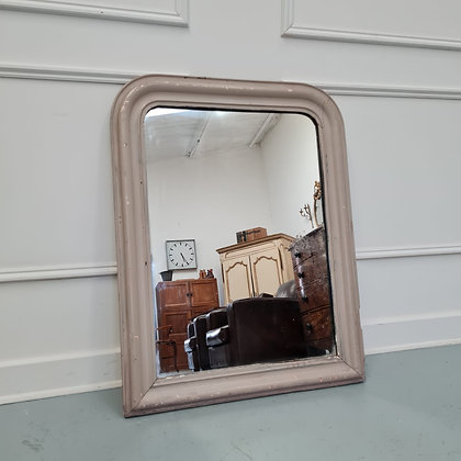 Small French Antique Grey Mirror