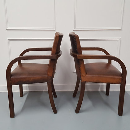 Fantastic Pair of Library Chairs C1930