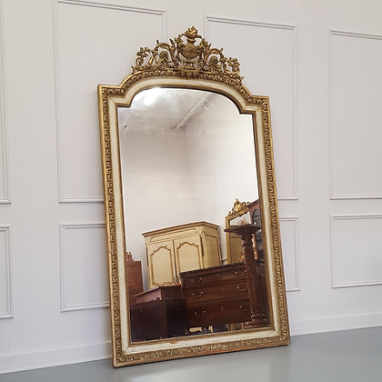 Tall French Antique Mirror c1850