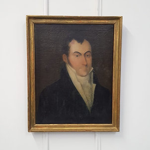 Antique Oil Painting of Regency Gentleman
