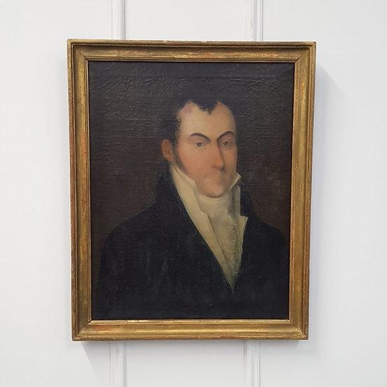 Antique Oil Painting of Regency Gentleman
