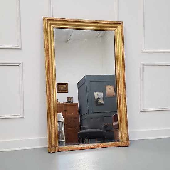 Gilded Narrow French Mirror C1860