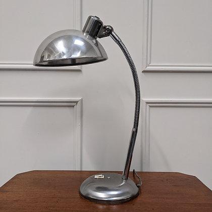 Vintage 1960s Polished Aluminium Lamp