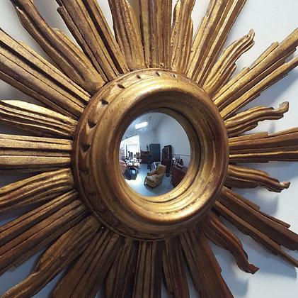 Antique French Sunburst Mirror C1920