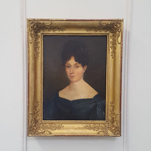 Beautiful Antique Oil Painting of Woman c1830