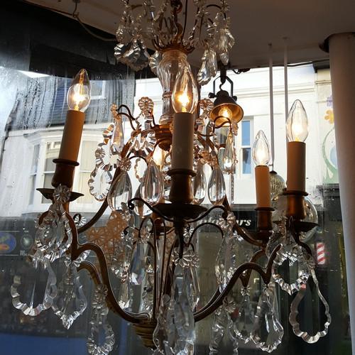 Swag brighton antiques lighting french vintage chandelier c1930 aloadofball Images