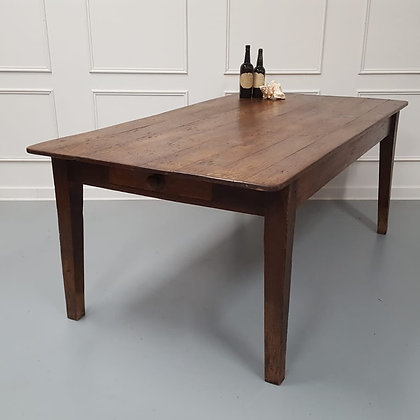 Large Antique English Oak Farmhouse Dining Table