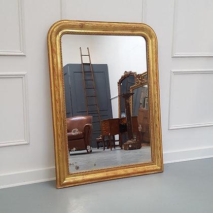 Antique French Leaf Design Mirror C1890