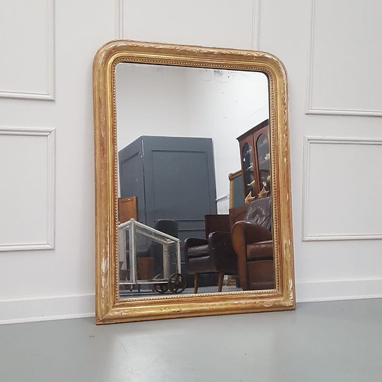 Antique Distressed French Mirror C1880