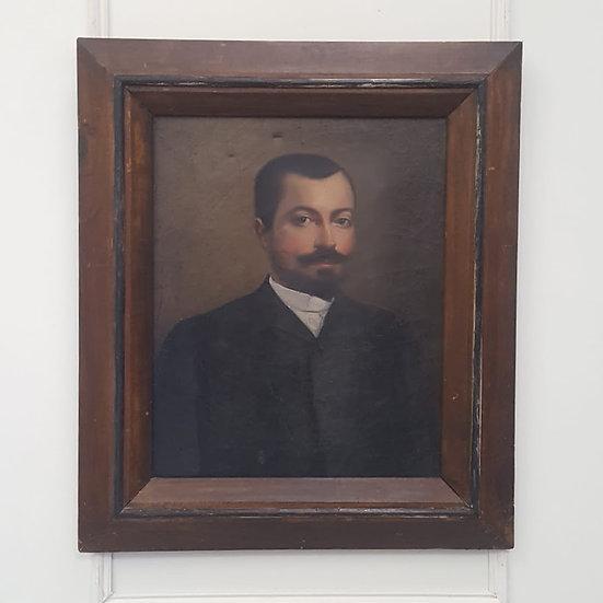 Antique  French Oil Portrait of Gentleman