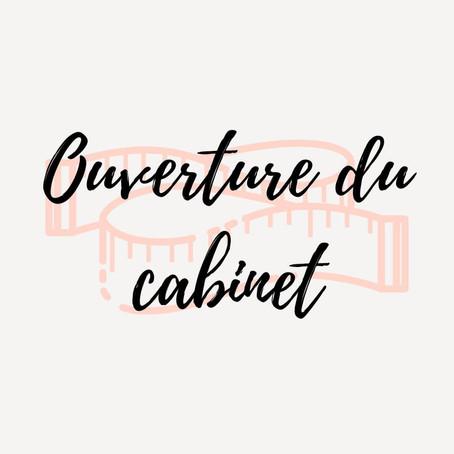 Annonce de l'ouverture du cabinet