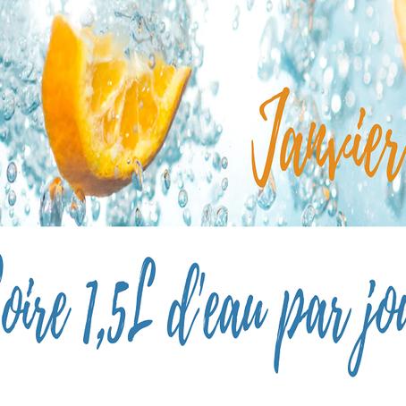 #4 Challenge 1 du mois de janvier : Boire 1,5l d'eau par jour #enformeaveclea