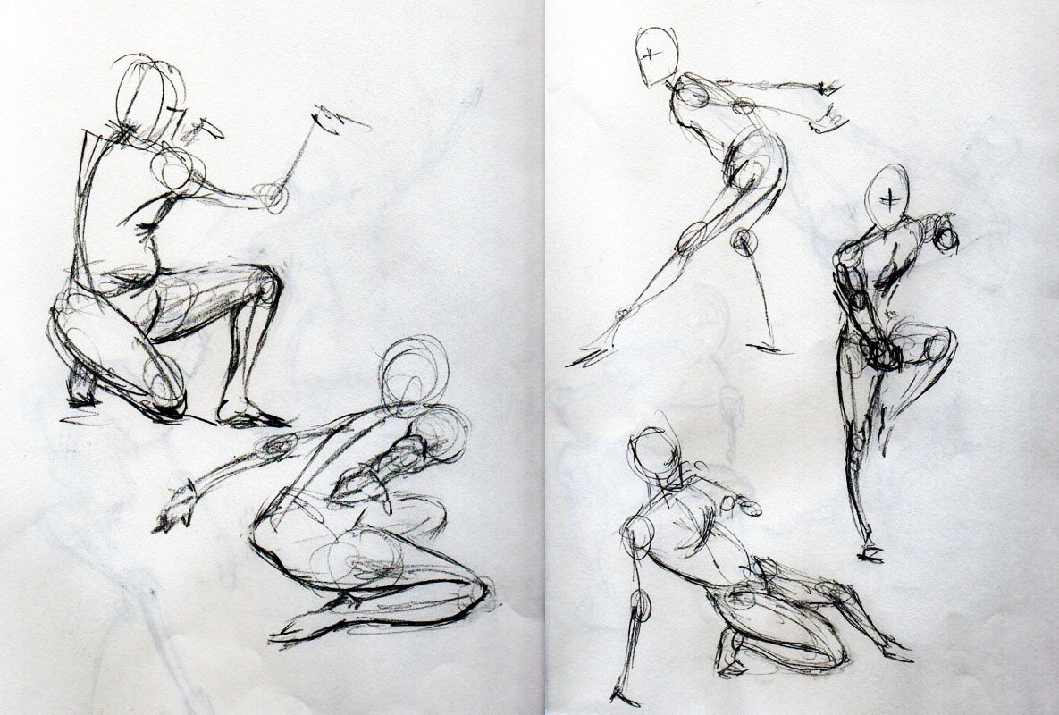 Gesture Drawings of Stephan Valeros