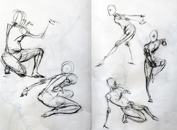 Gesture Drawings of Stephan Valeros